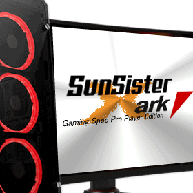 <p>Sunsister推奨ゲーミングPC</p><p>SunSister Gaming Spec Evo Player Edition</p><p><small>CY-IC6H37A-SSE</small></p>