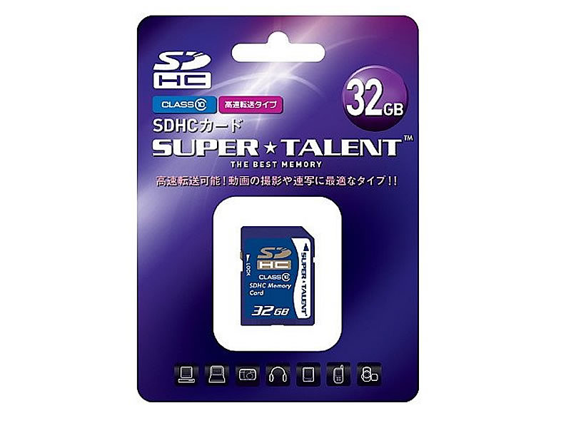 SuperTalent SDHC Card 32GB ST32SDC10