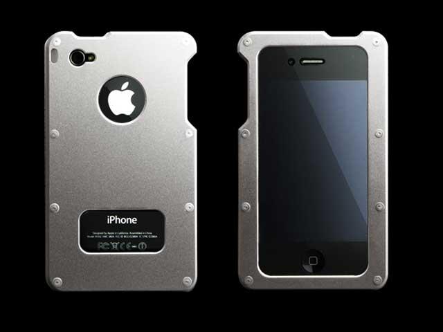 8daa949435 Abee MA-4J01-S iPhone4用ジャケット シルバー 01 モバイル 携帯端末アクセサリー関連