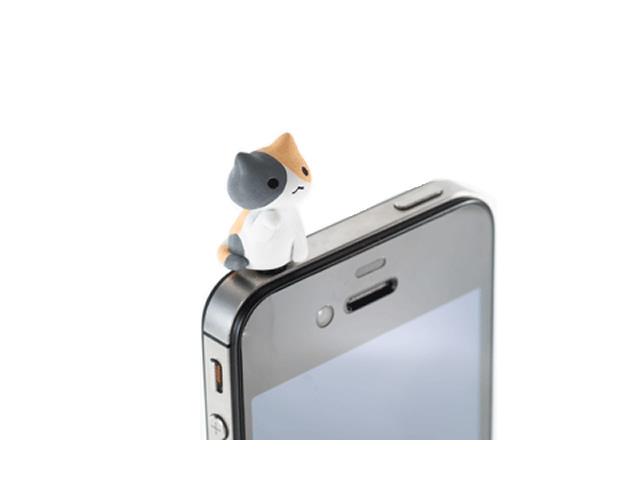 0977d0b8cd にゃんこ型 イヤホンジャックカバー まねきねこ 01 モバイル 携帯端末アクセサリー関連 iphone関連